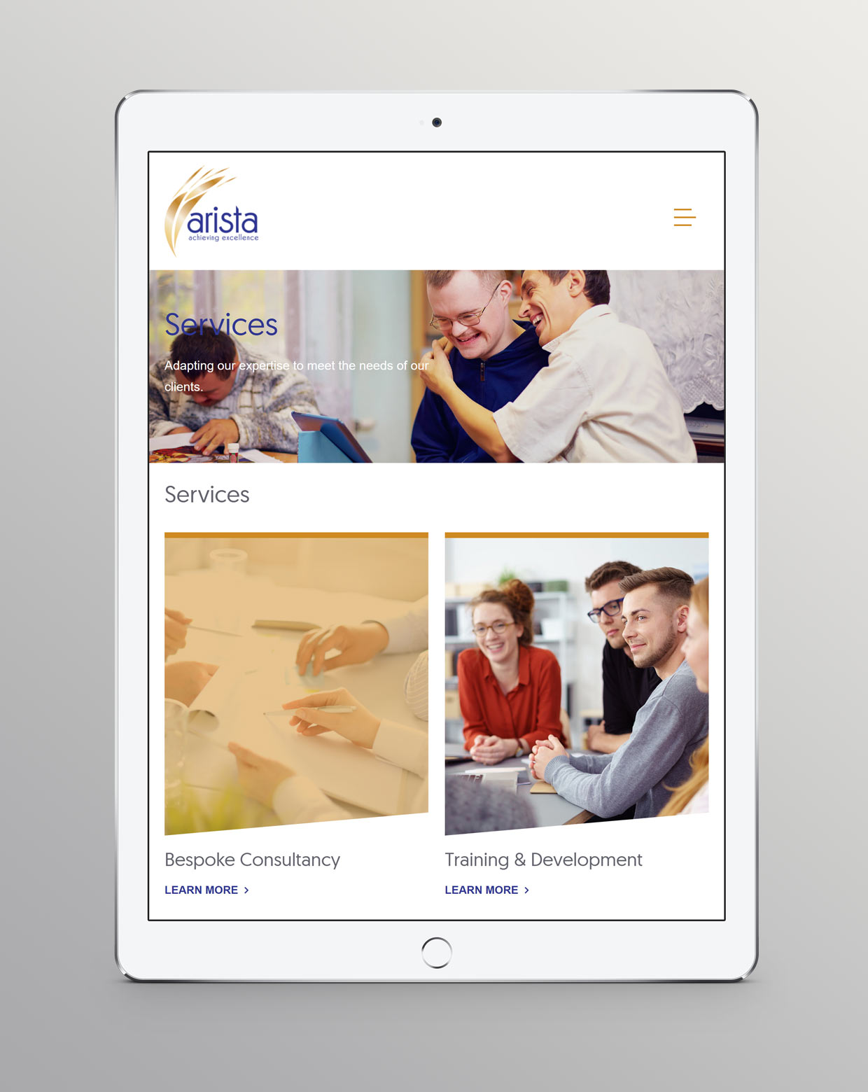 Arista Associates Mobile design