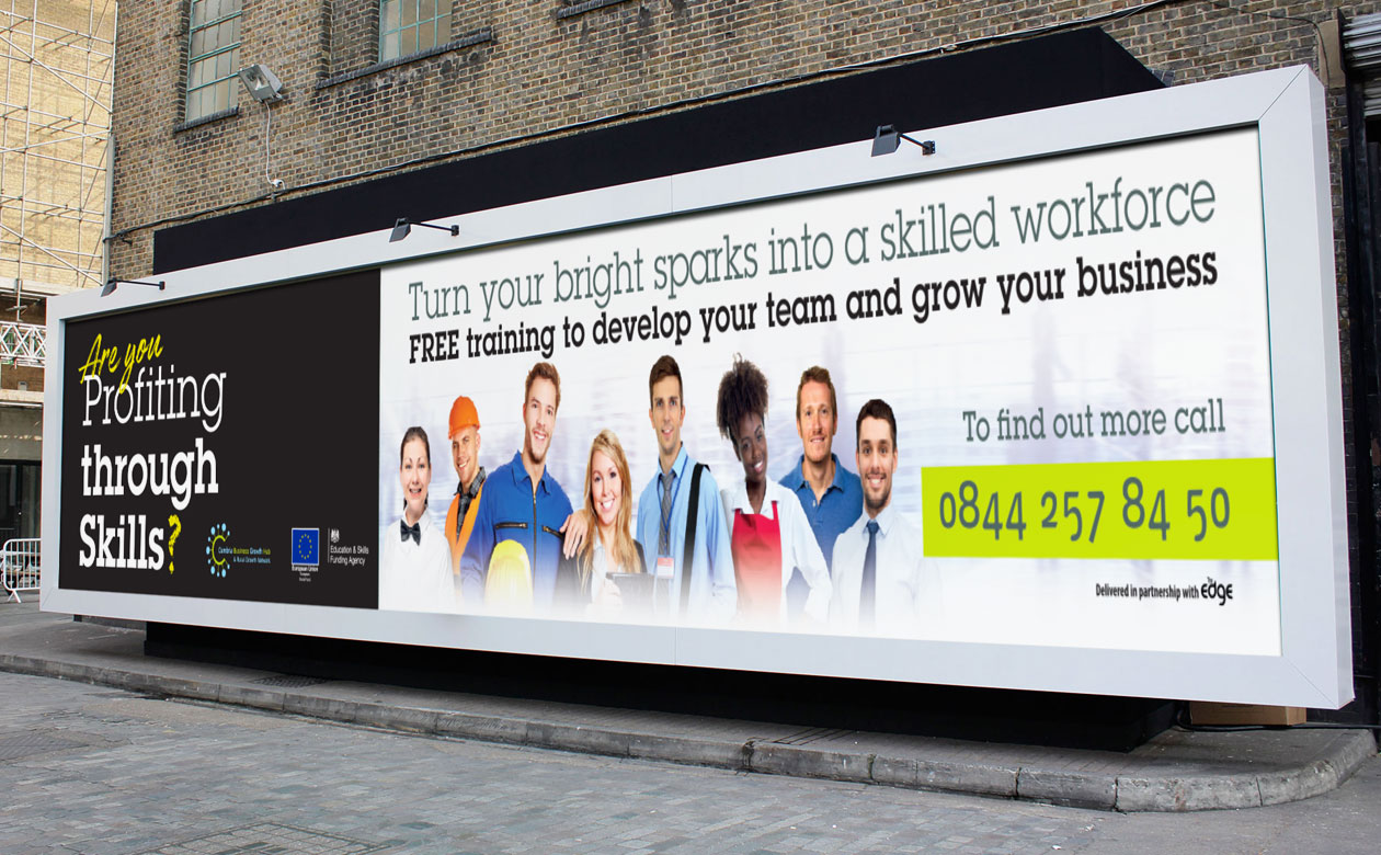 Profiting through Skills Billboard design