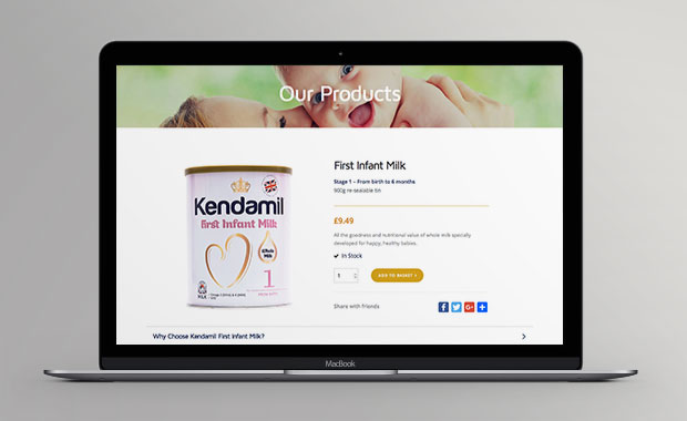 Kendamil Website Product Page