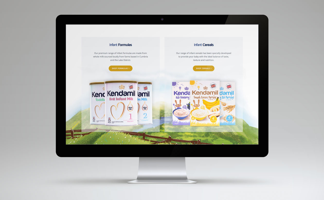 Kendamil Website Product banners